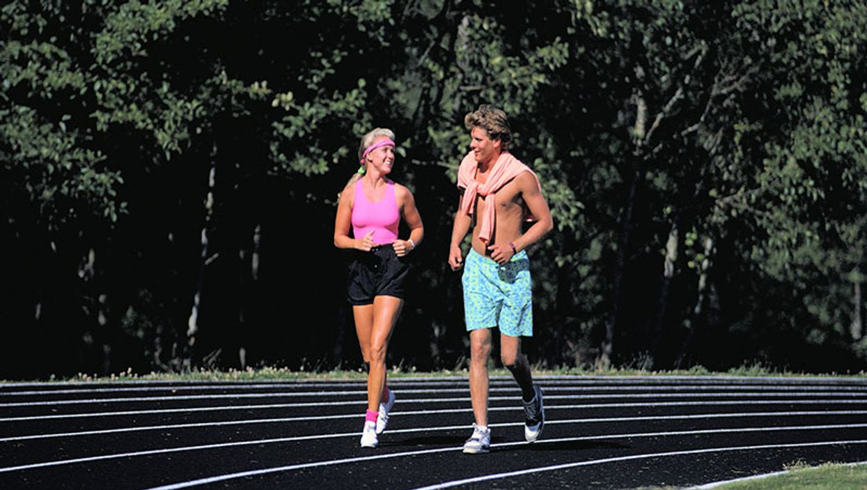 runners on a track