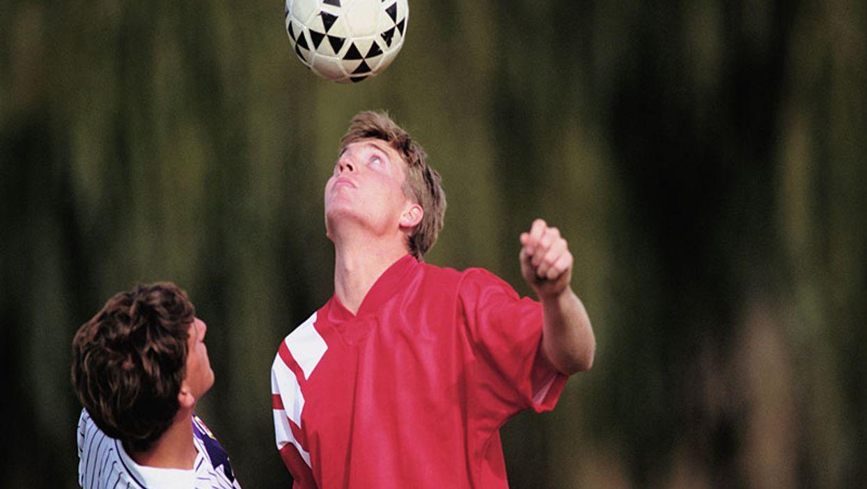 heading soccer ball