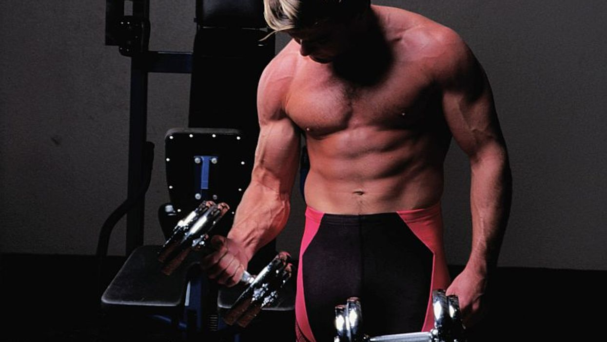 men weight lifting