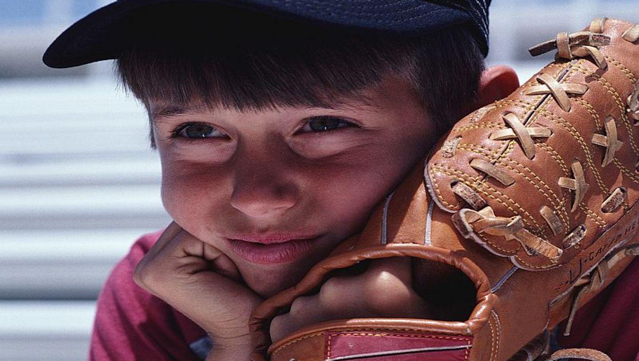 boy with baseball glove