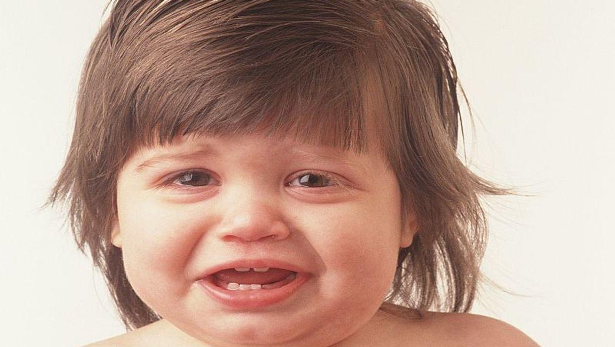 infant boy crying