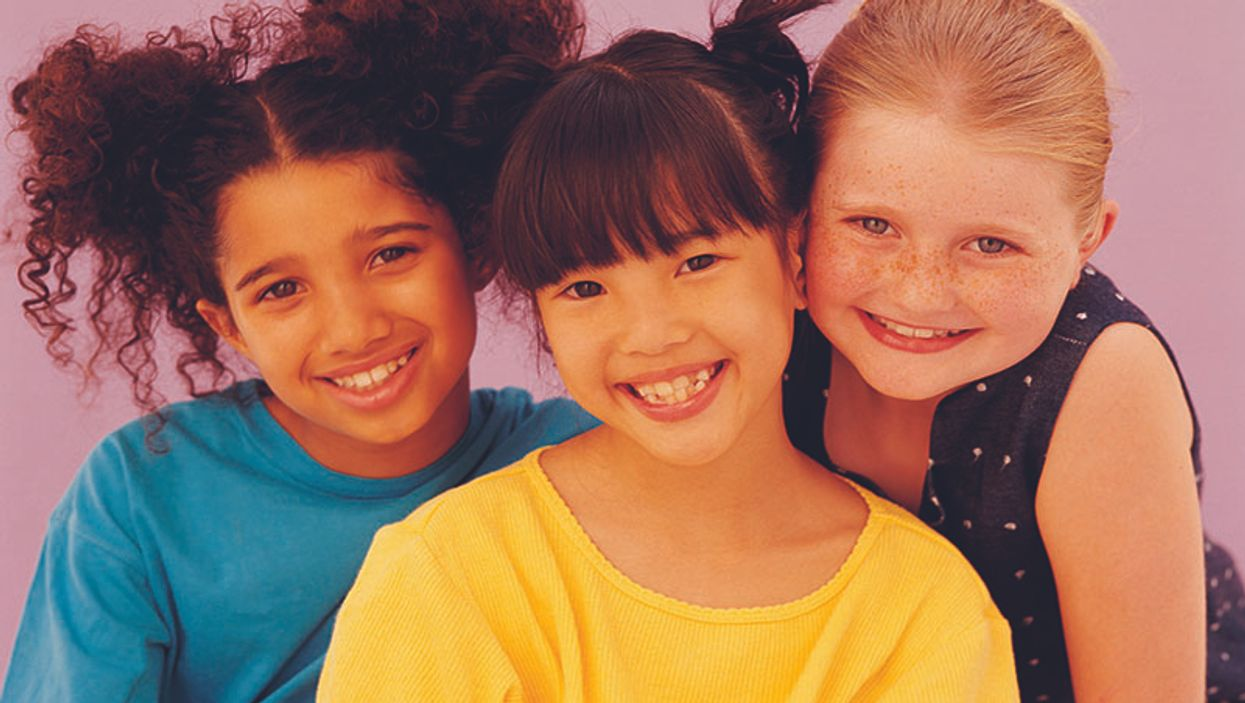 group of girls smiling
