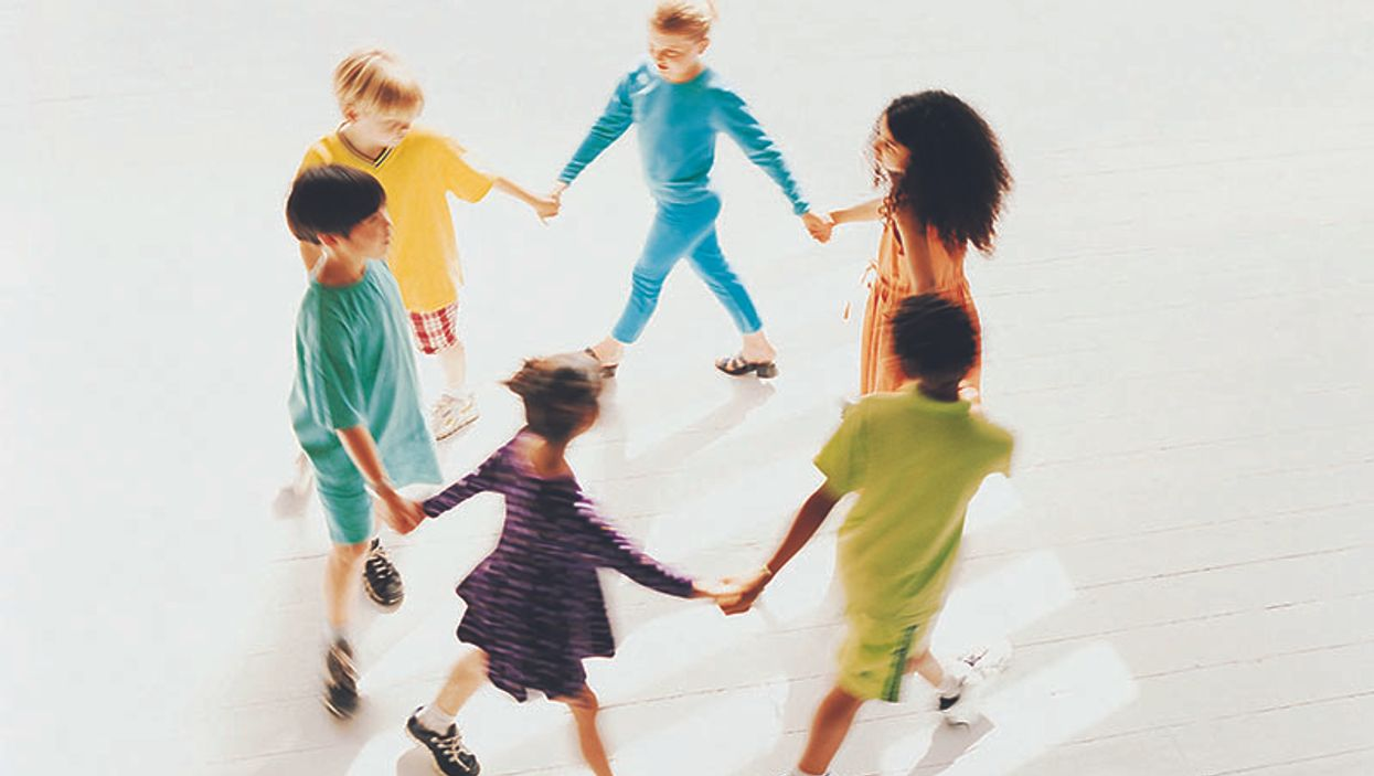 group of kids in a circle