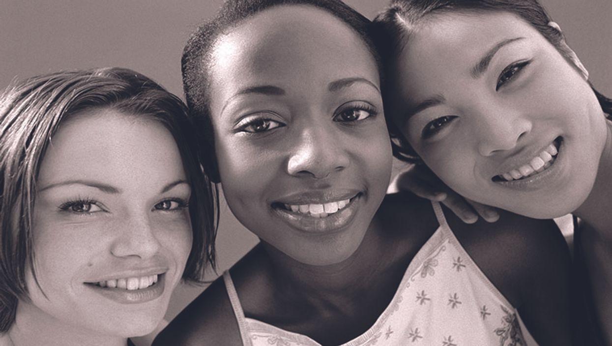 teen girls smiling