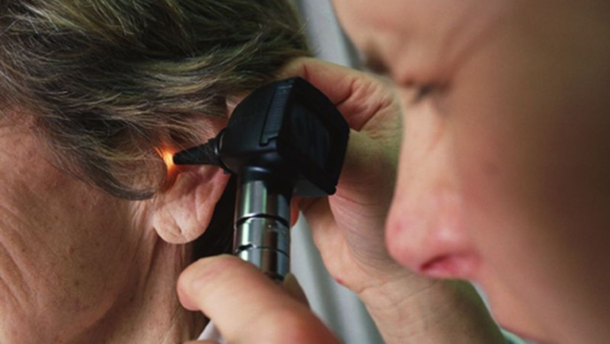looking into the ear canal