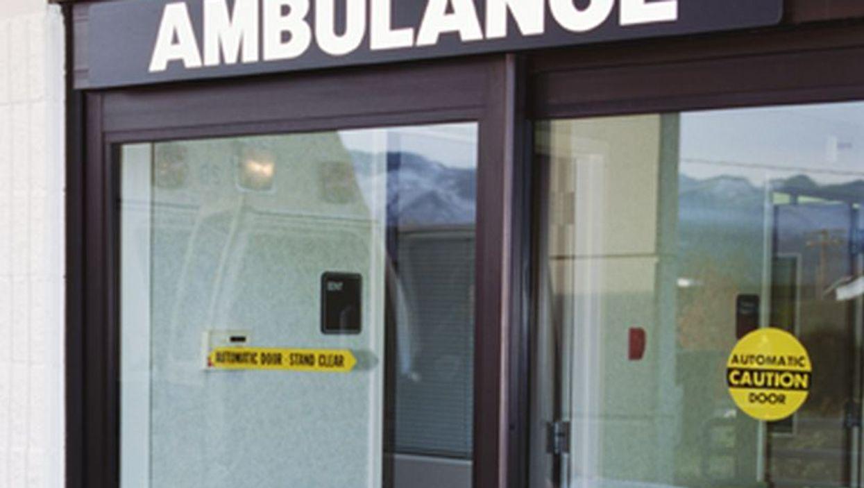 ambulance entrance sign