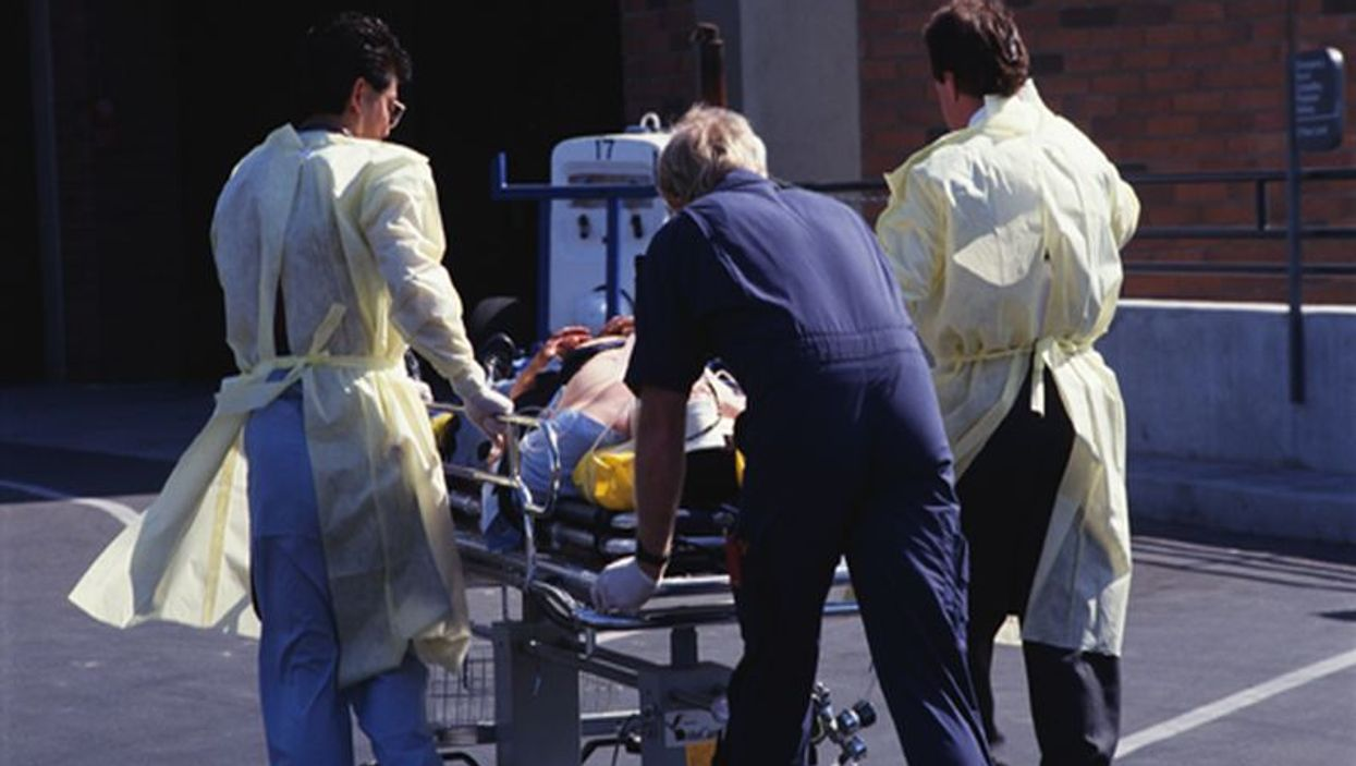 patient on a stretcher