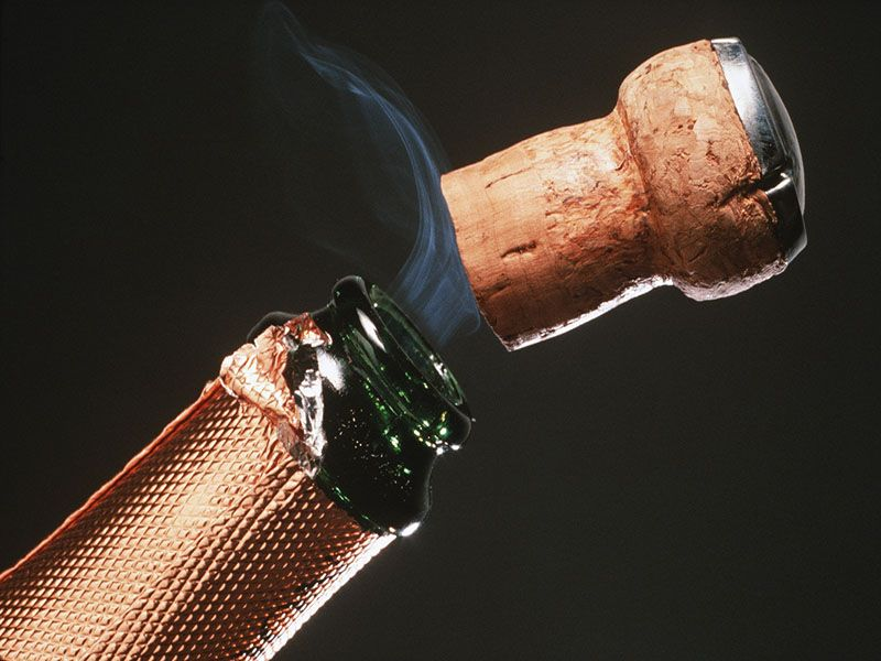 News Picture: When Popping Champagne at New Years', Watch Out for That Cork