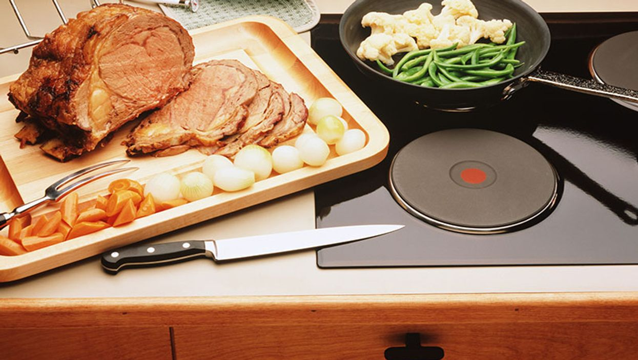 food on a stove