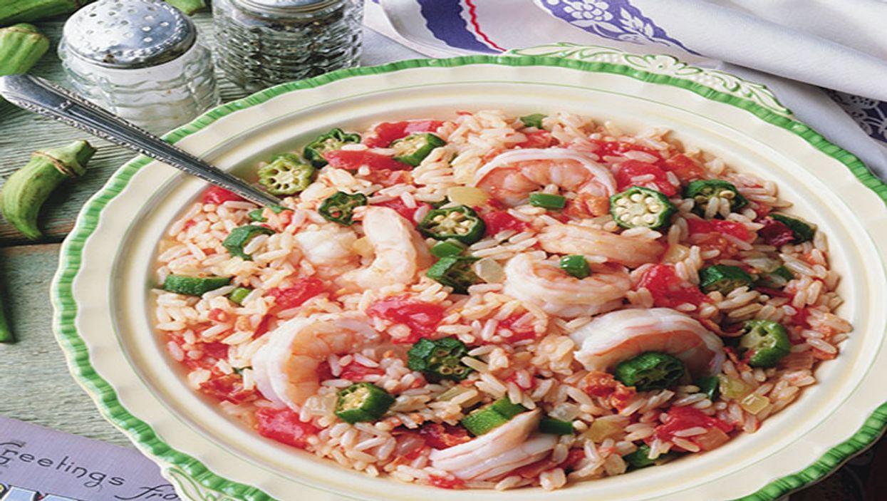sea food with rice
