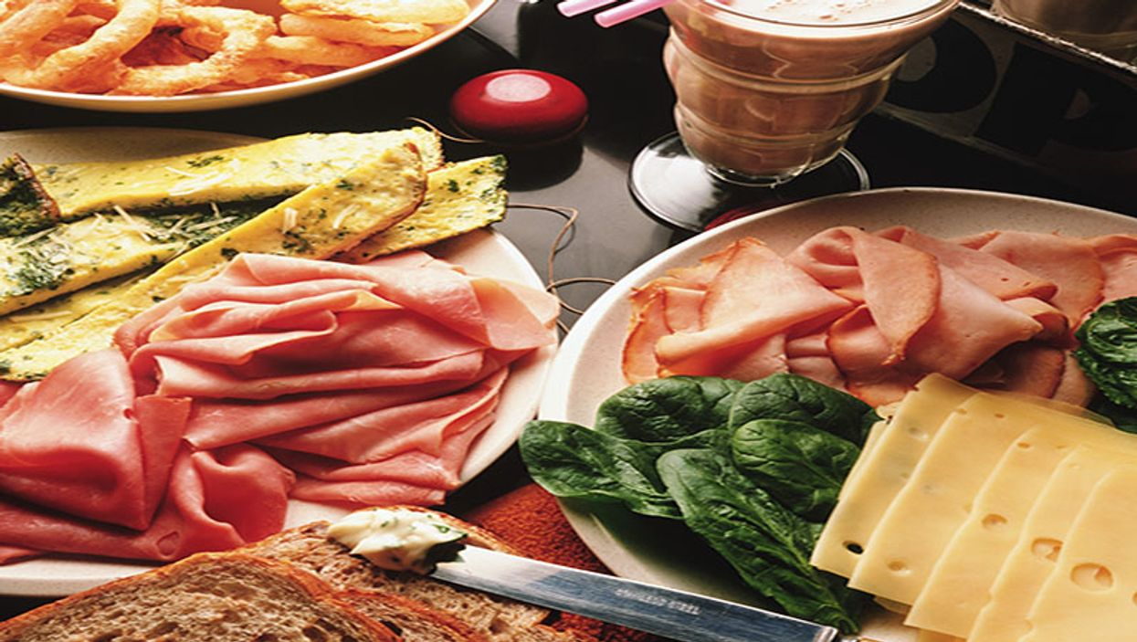 plates with cold cuts