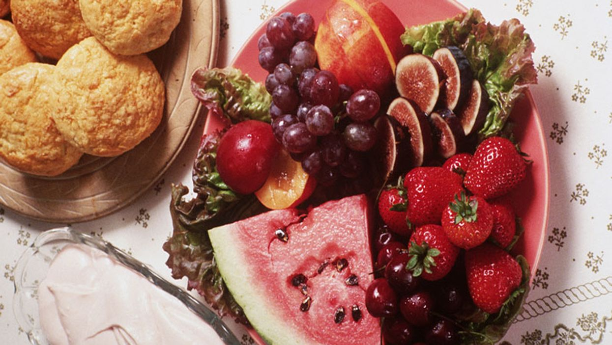 muffins and fruit