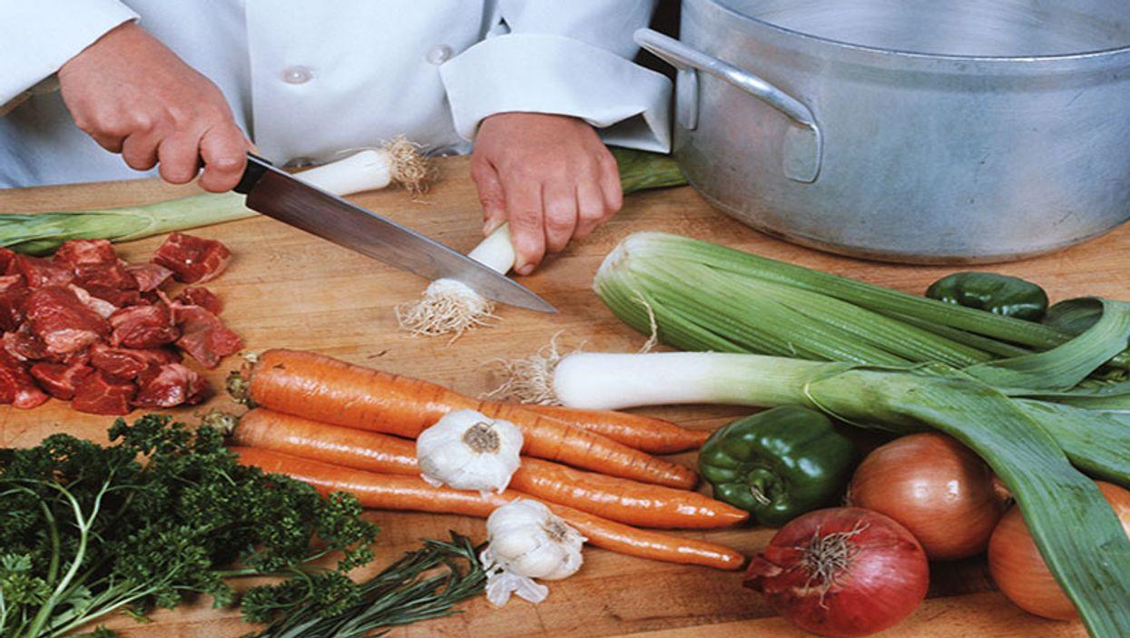 preparing vegetables`