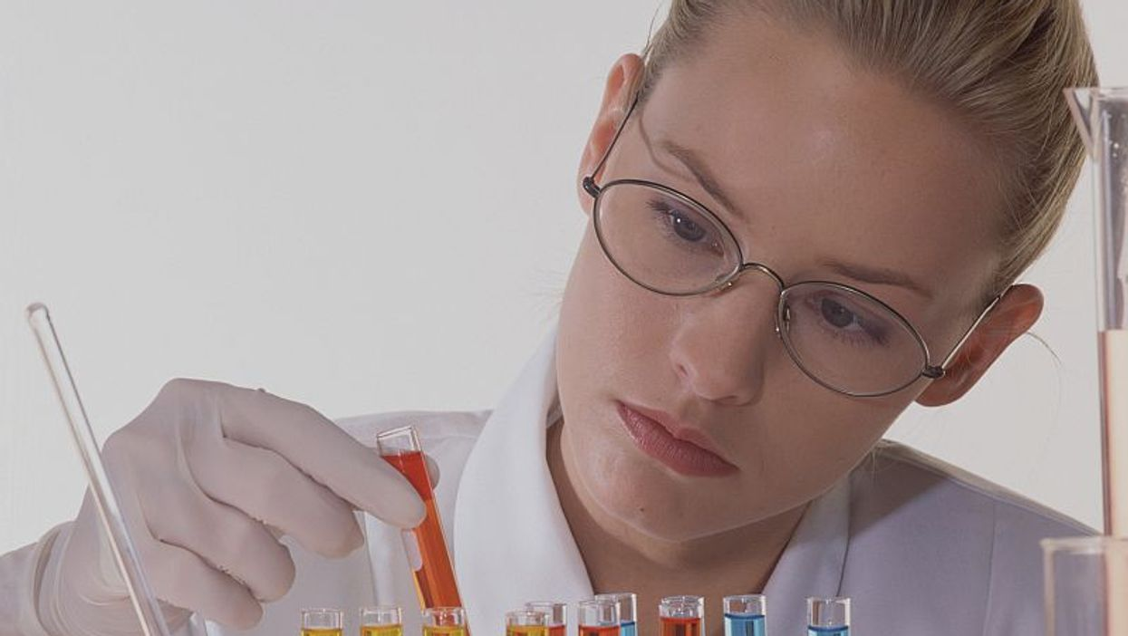 woman doing laboratory research