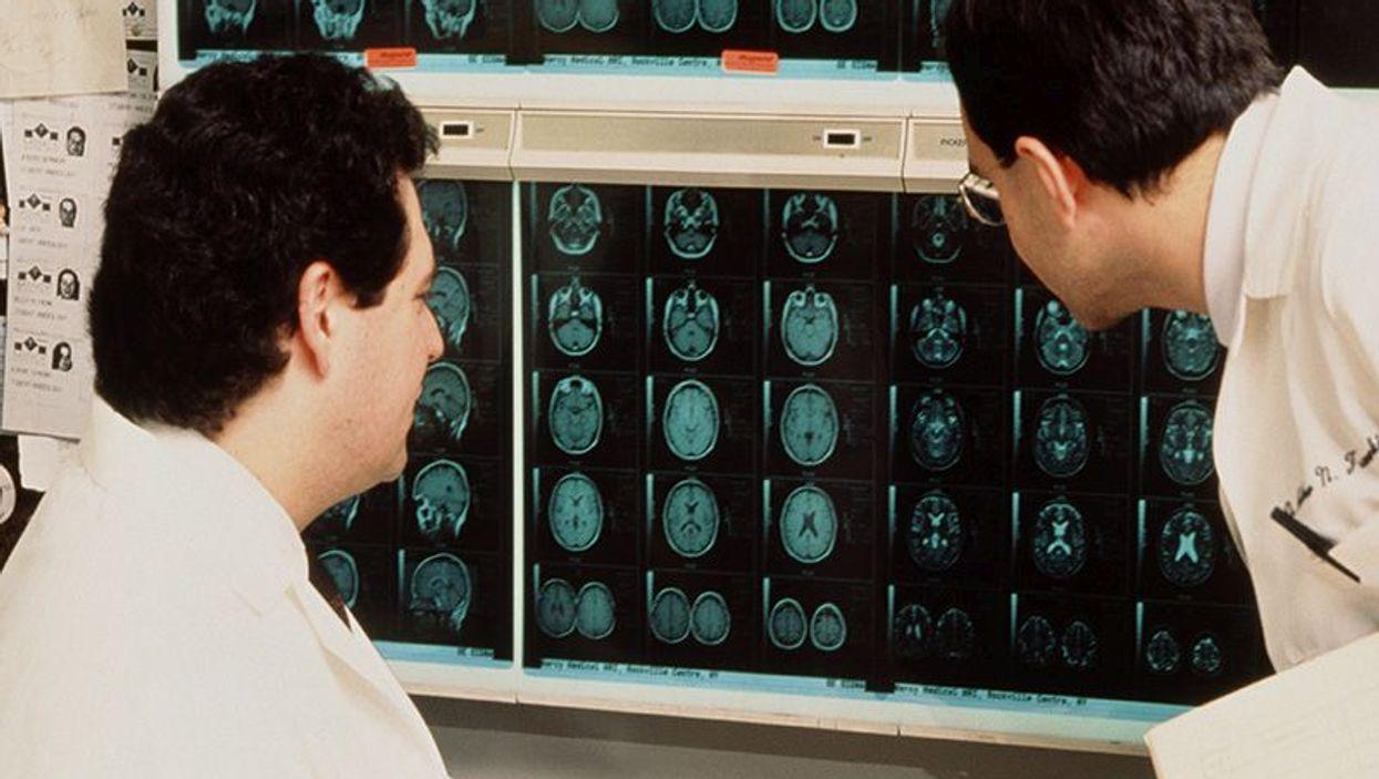 men reading x-rays