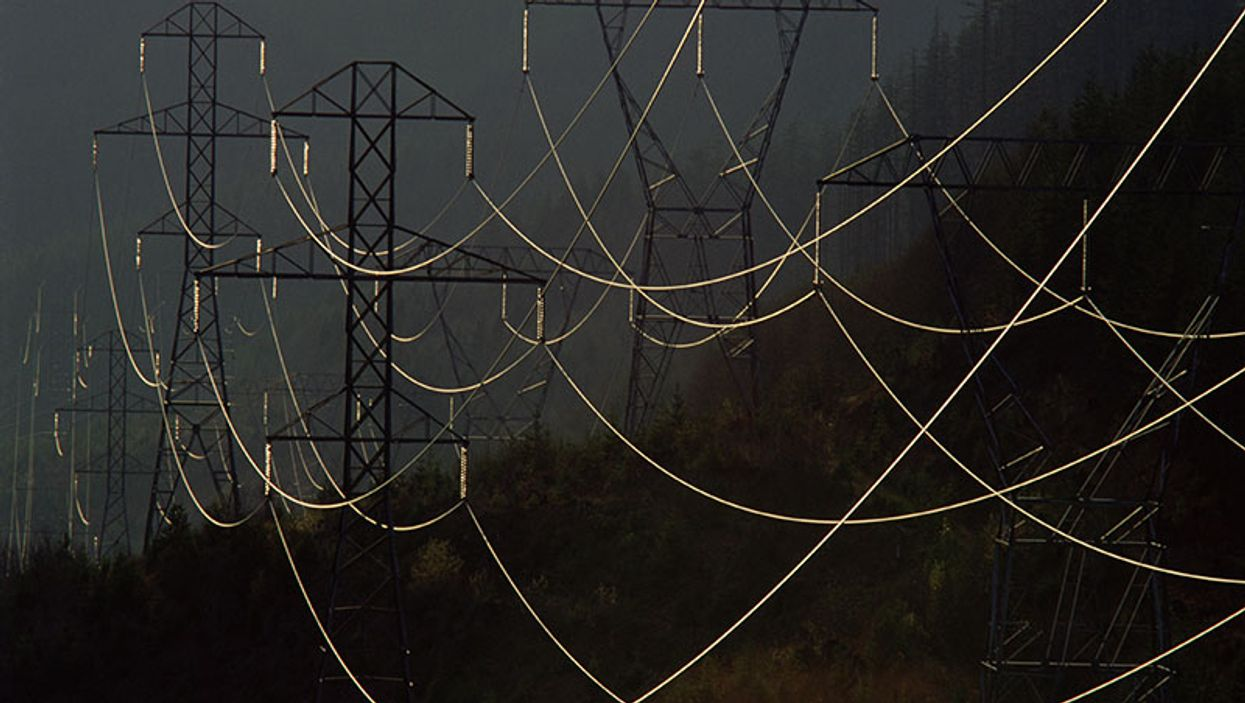 electric wires at night