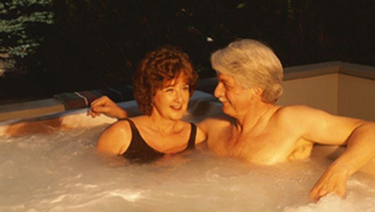 women in whirlpool