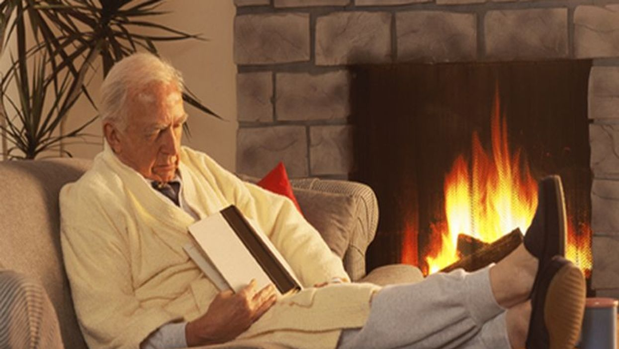 elderly man sleeping