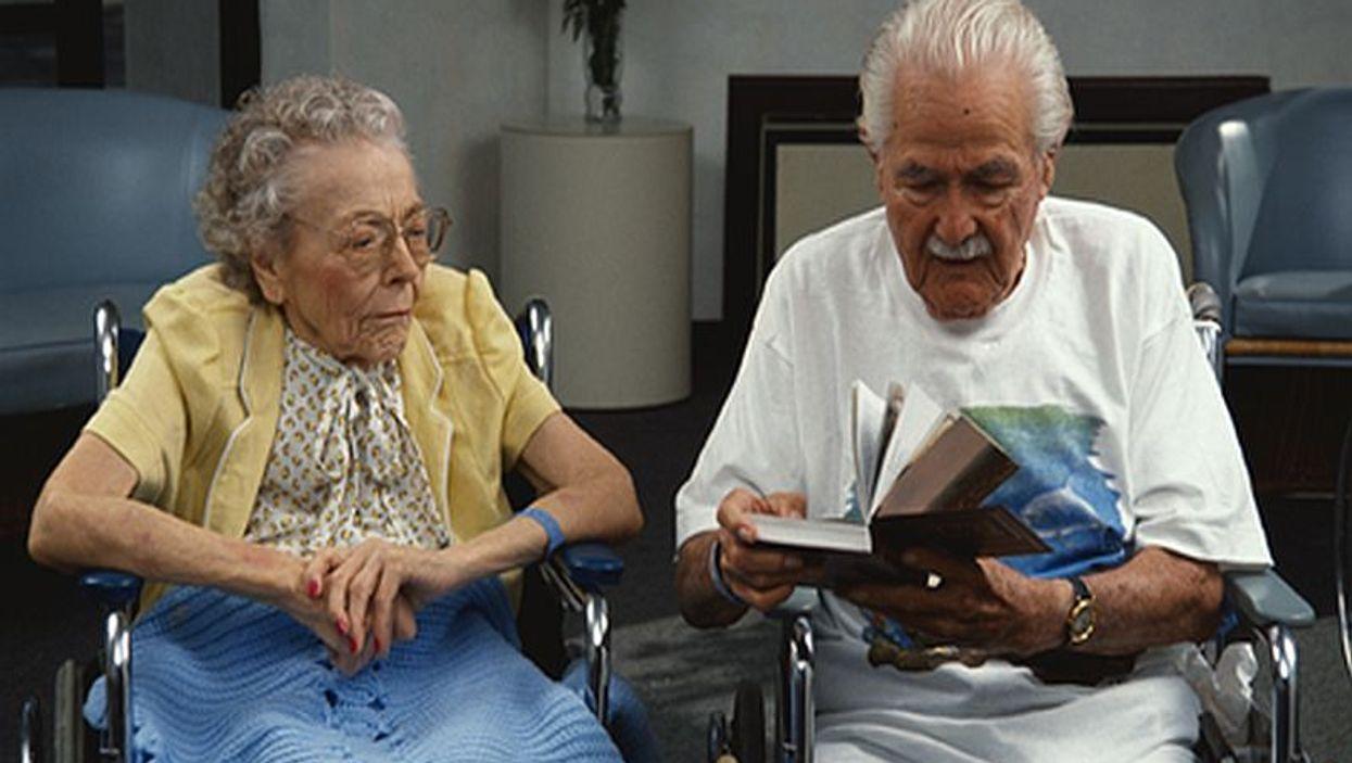 elderly people in wheelchairs