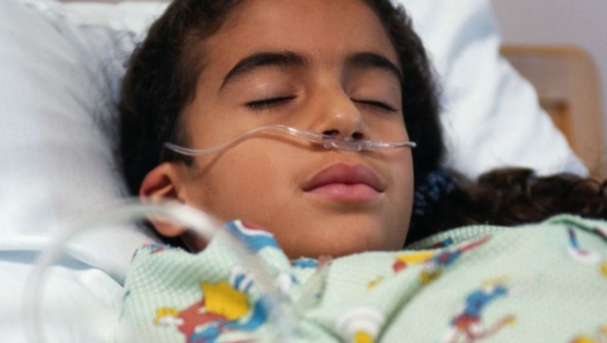 a child in a hospital