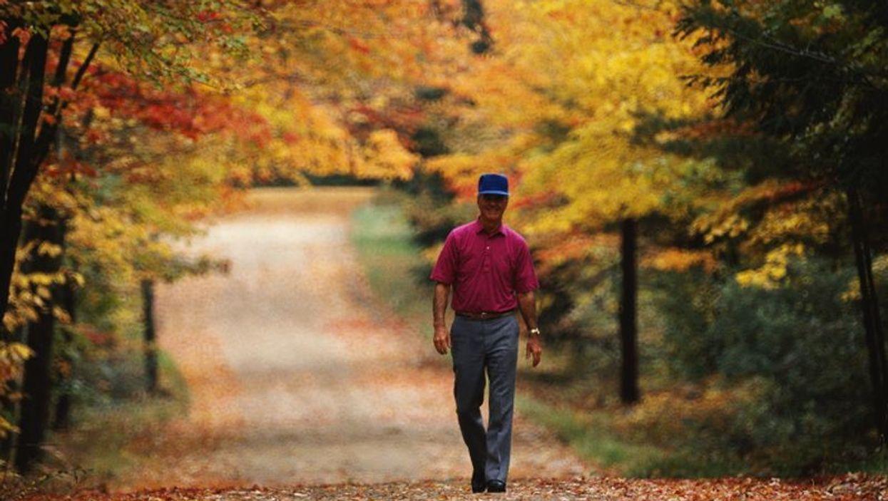 man walking in the park