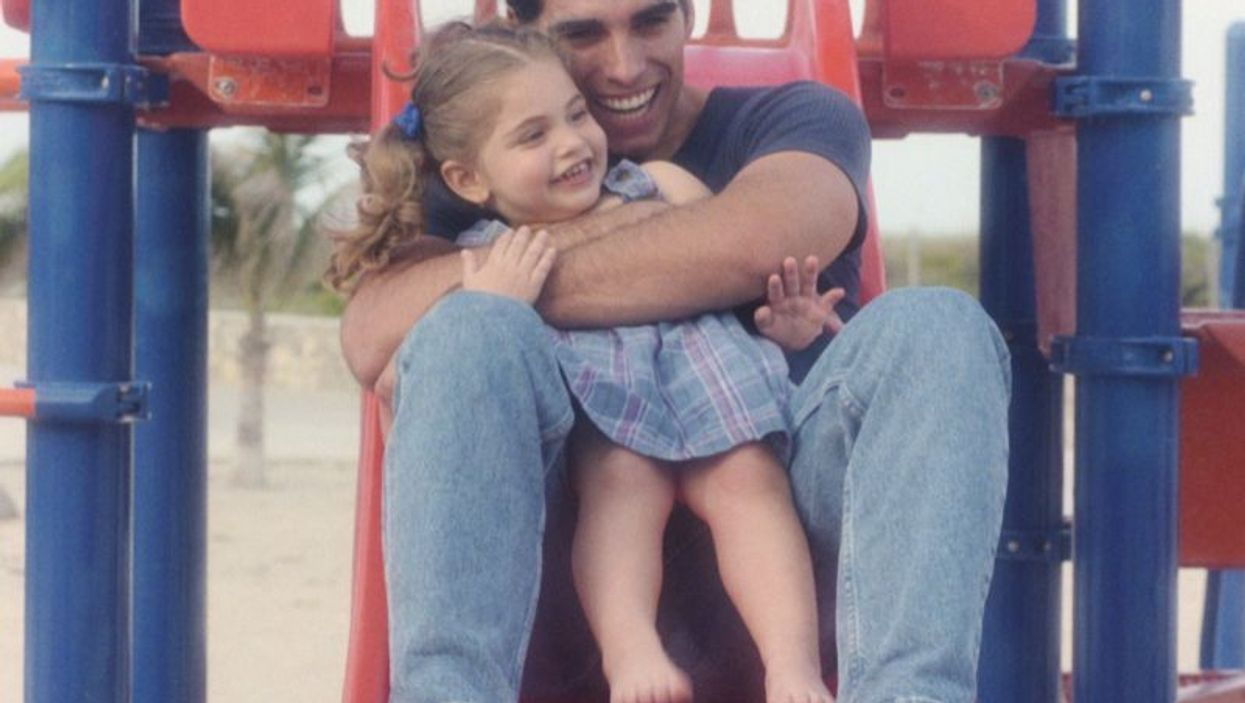 father and a girl