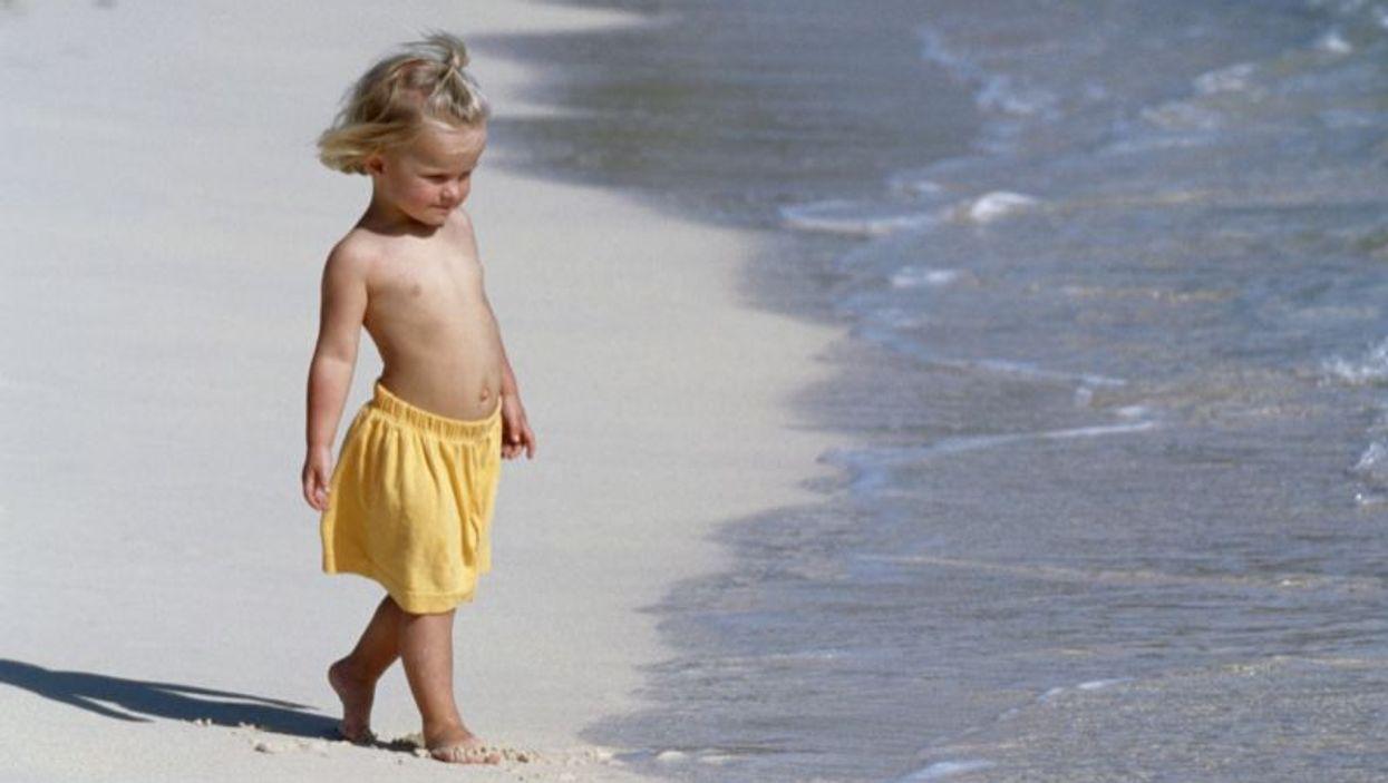 baby at the seashore