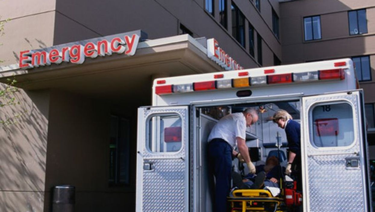 ambulance at emergency room