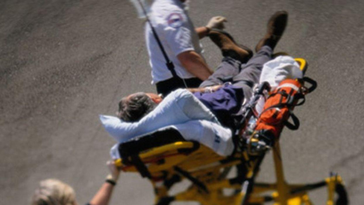 patient on stretcher