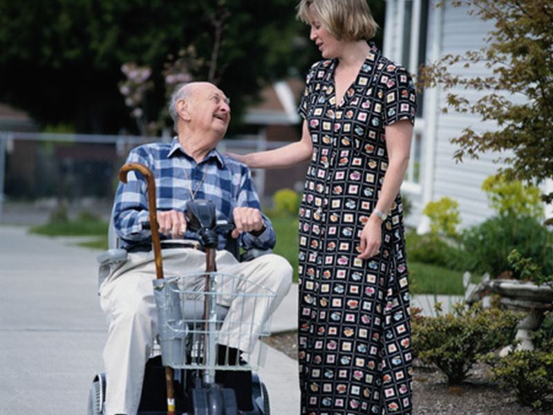 News Picture: Avoid Injury While Caregiving at Home