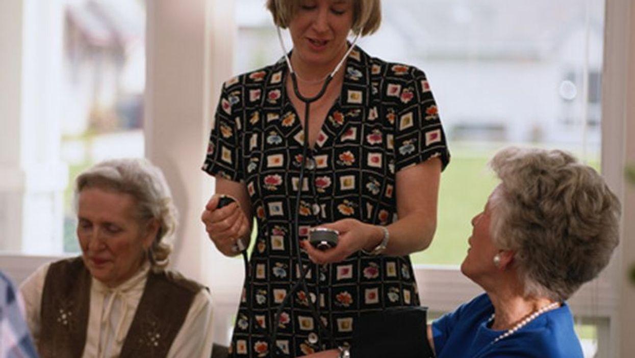 seniors and caregiver