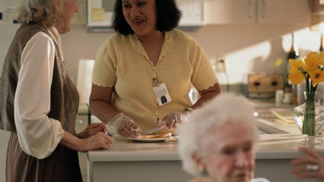 caregiver and seniors