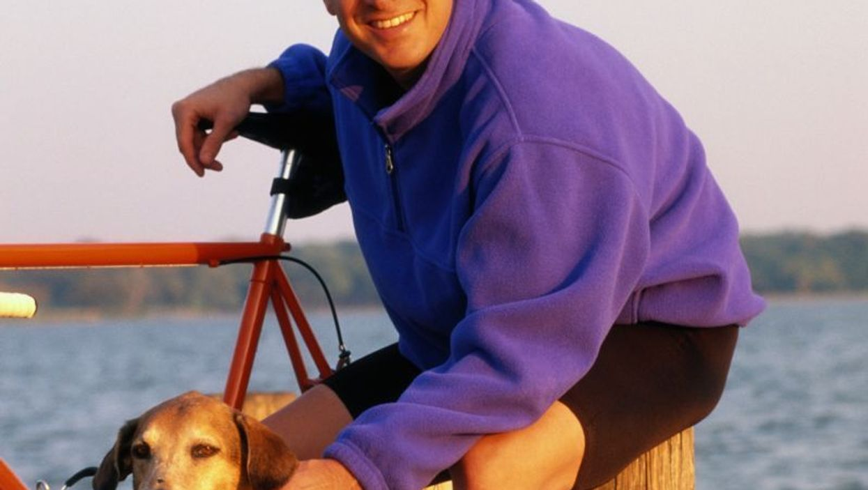 biking with dog