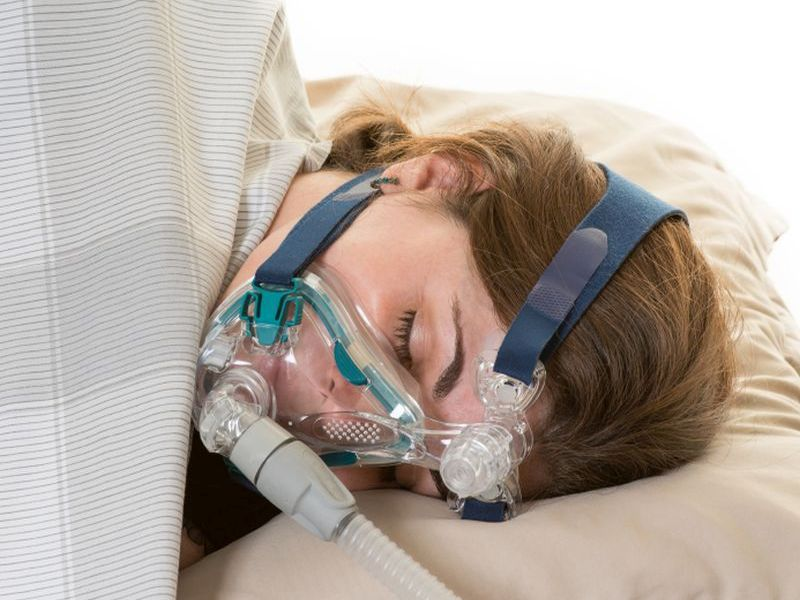 News Picture: CPAP Mask for Sleep Apnea May Boost Daytime Activity Levels