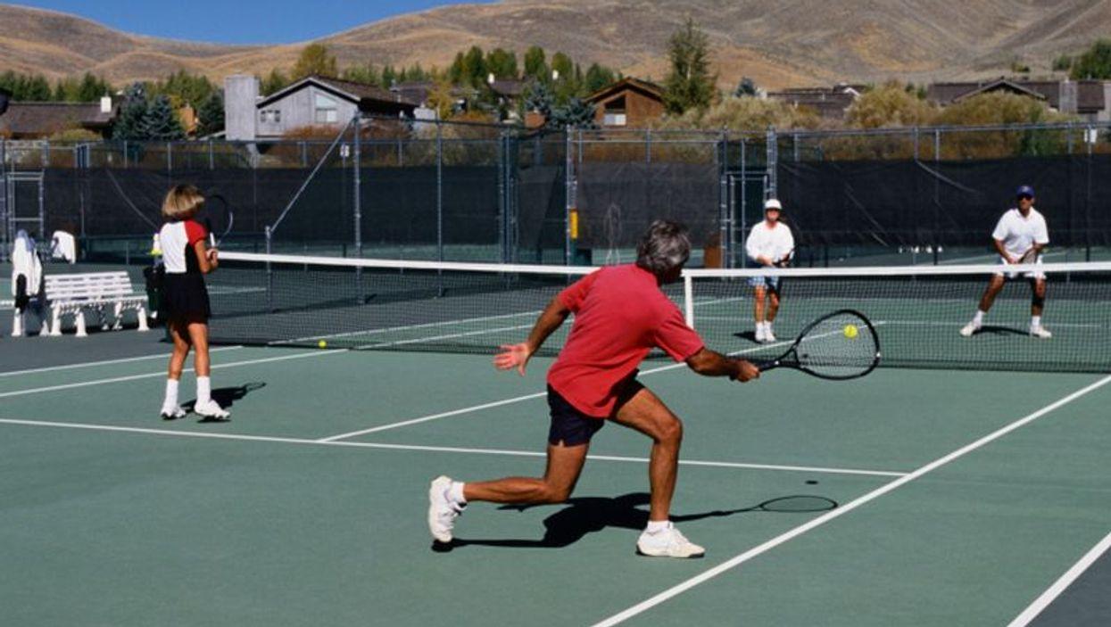 men playing tennis