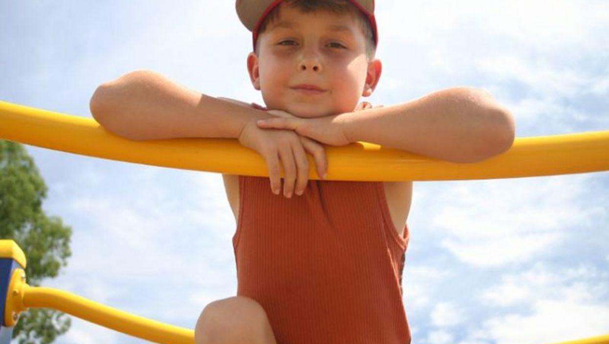 a boy on a playground