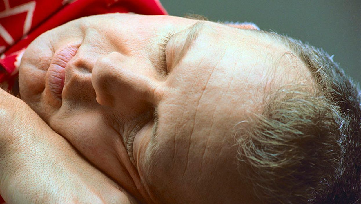 man asleep