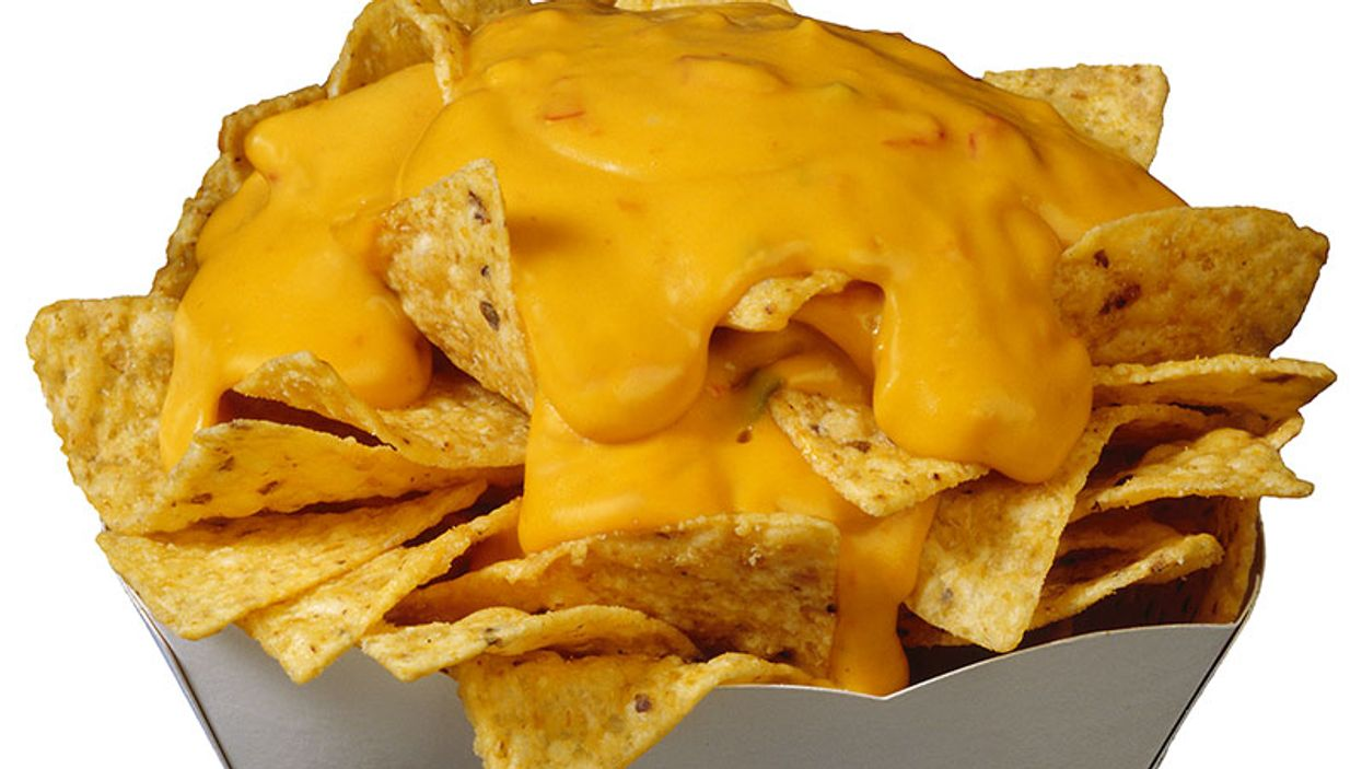 corn chips with cheese