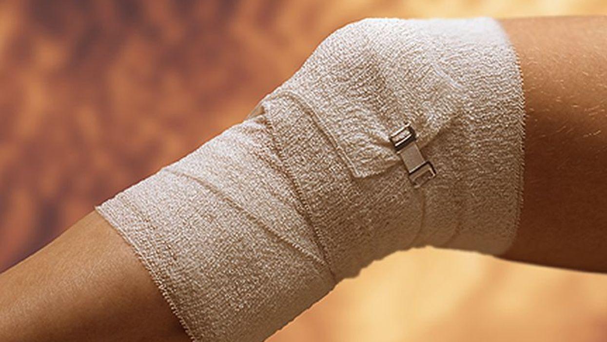 bandaged knee