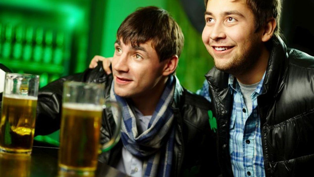 men drinking beer