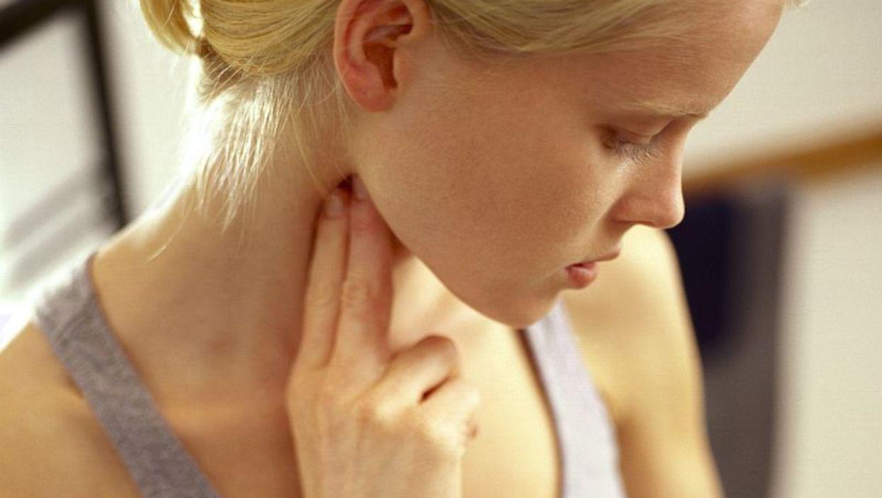girl checking her pulse