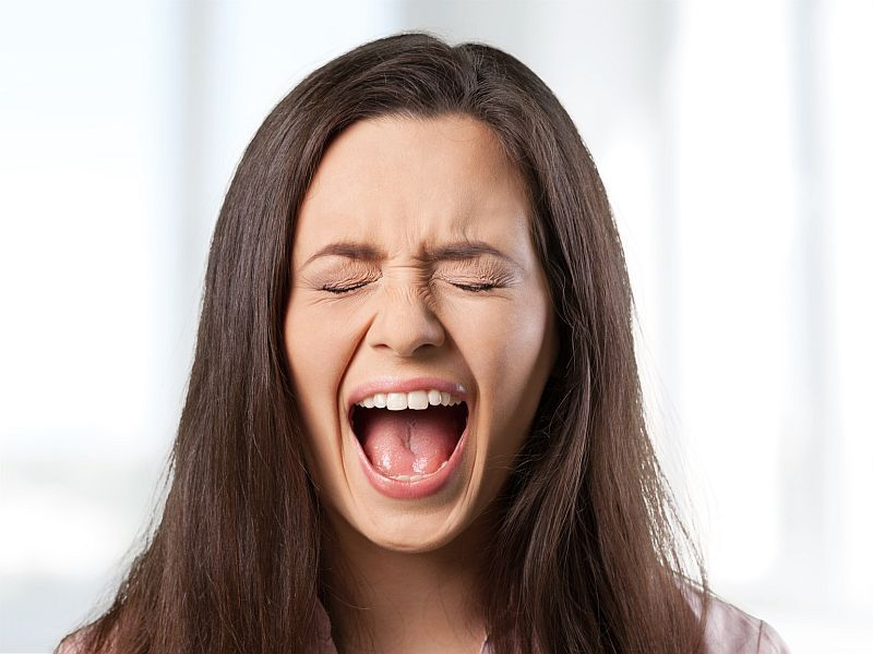 News Picture: It's a Scream: Human Brains Alert to Positive Shrieks
