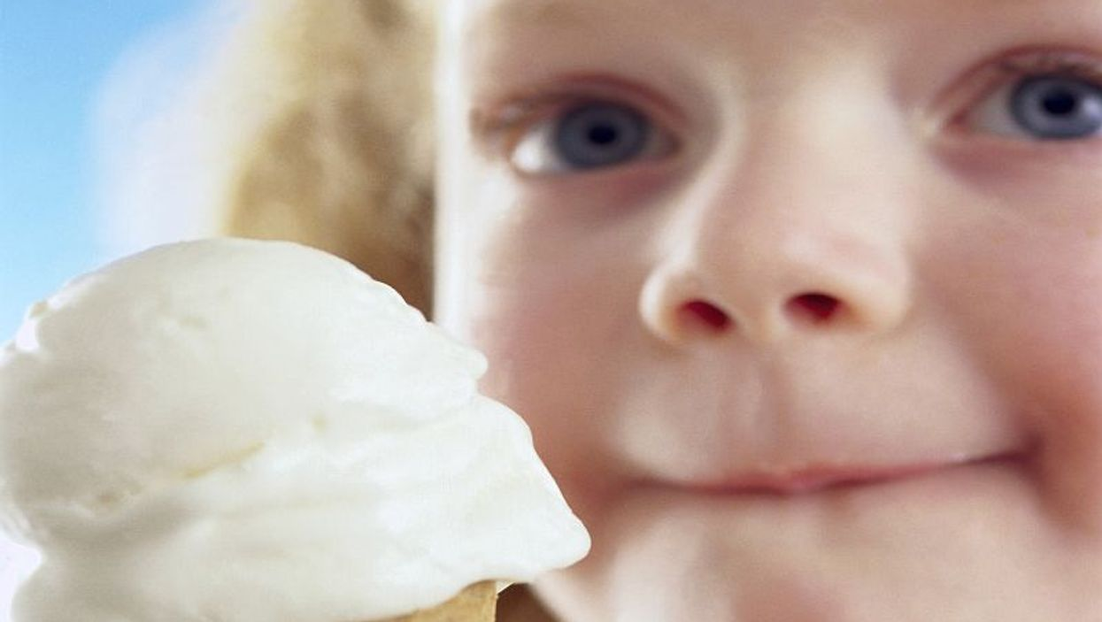 a girl eating ice-cream