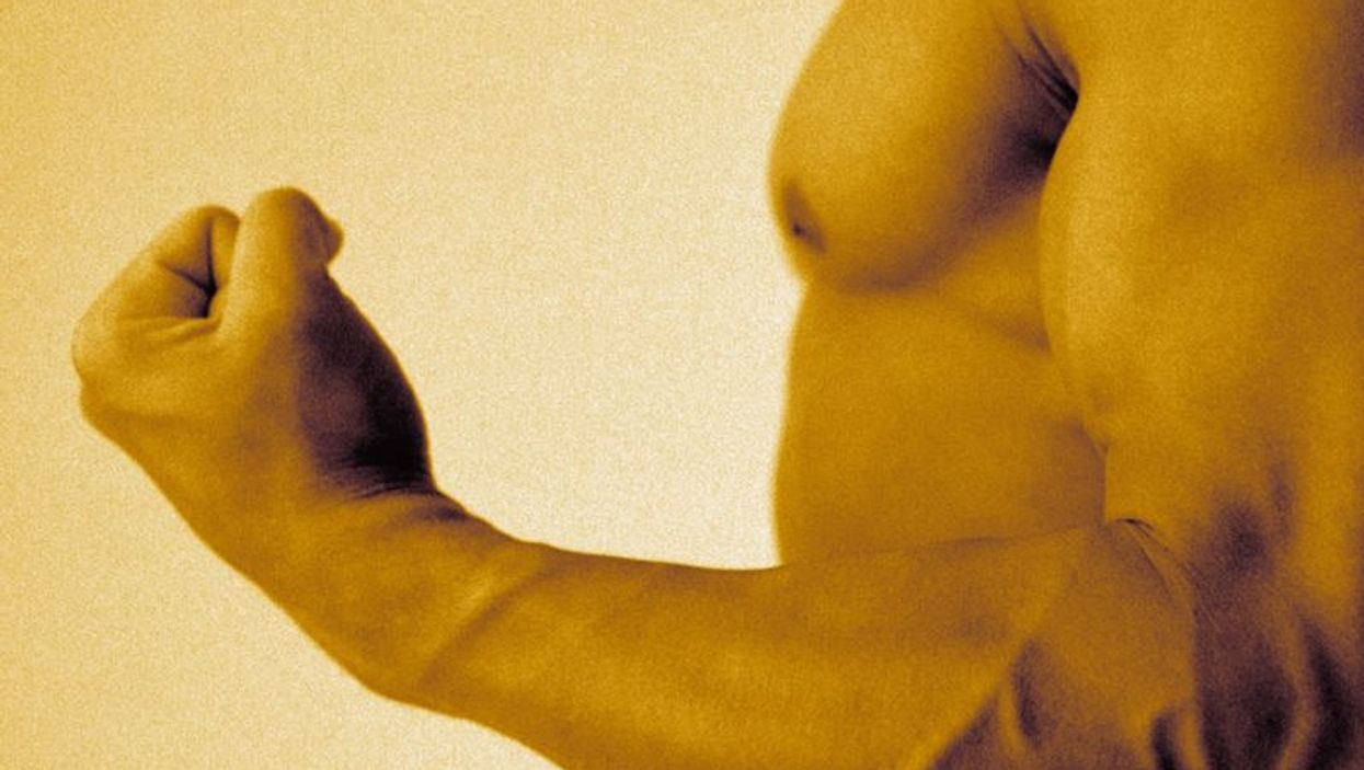 man\'s muscles