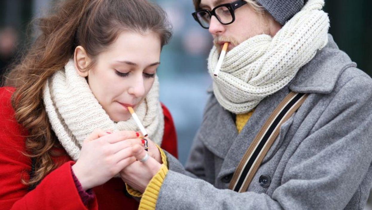 teens smoking