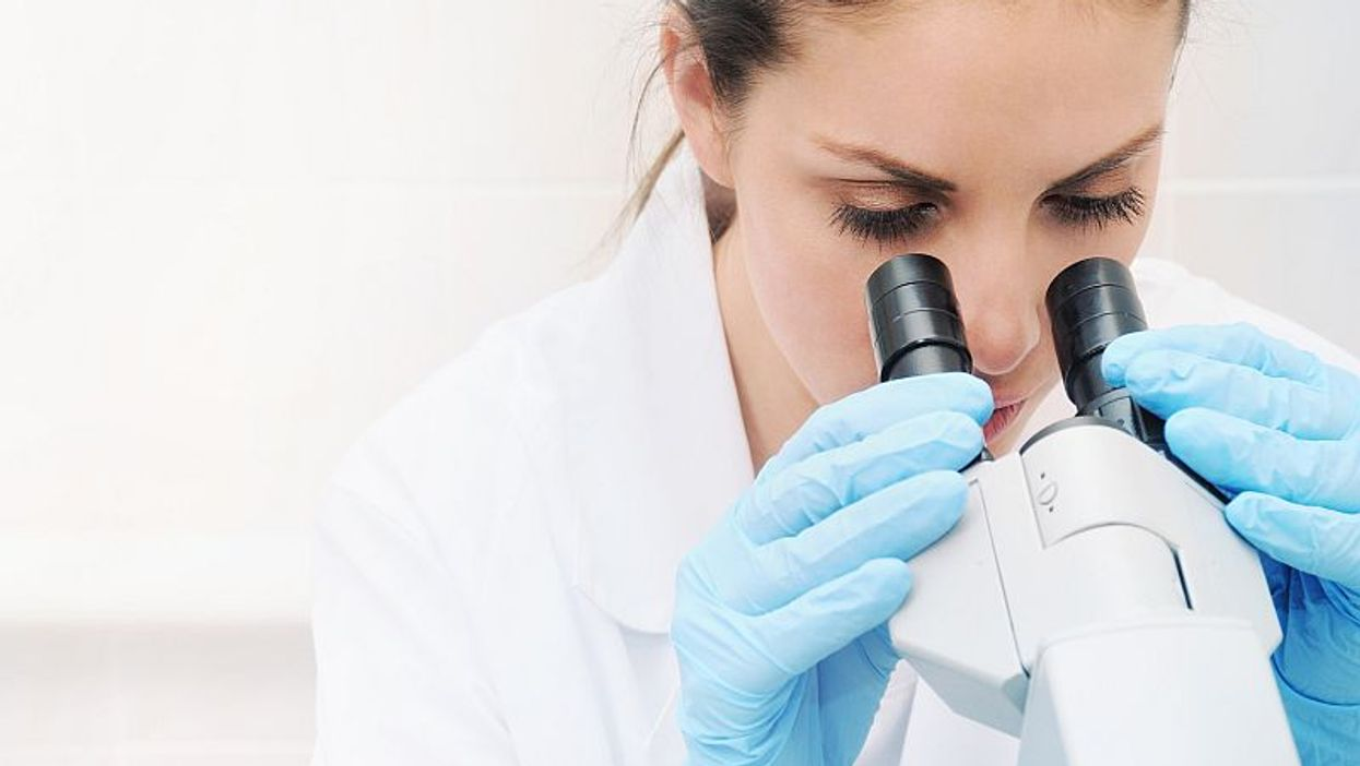 female lab worker