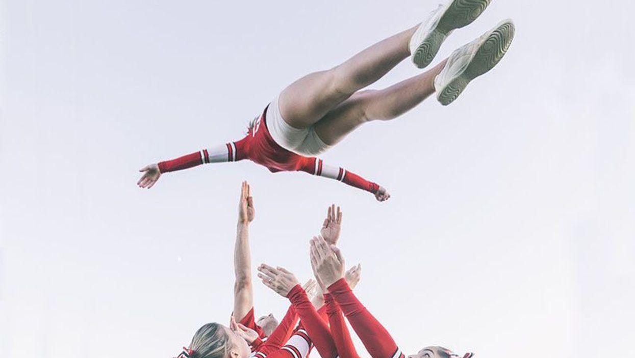 cheerleader stunt