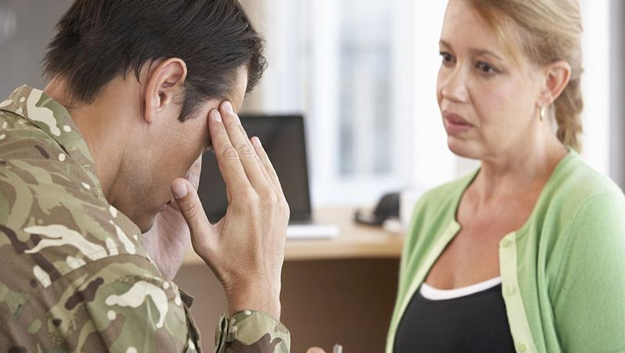 soldier getting counseling
