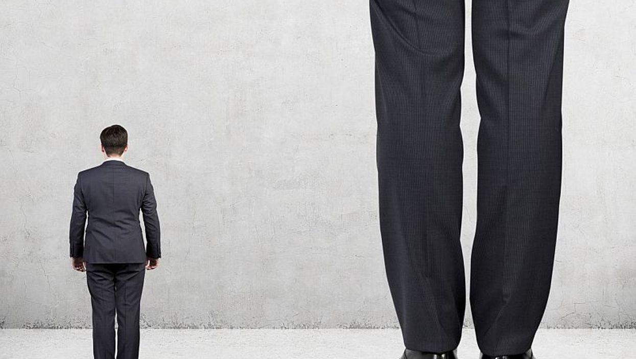 short man, tall man