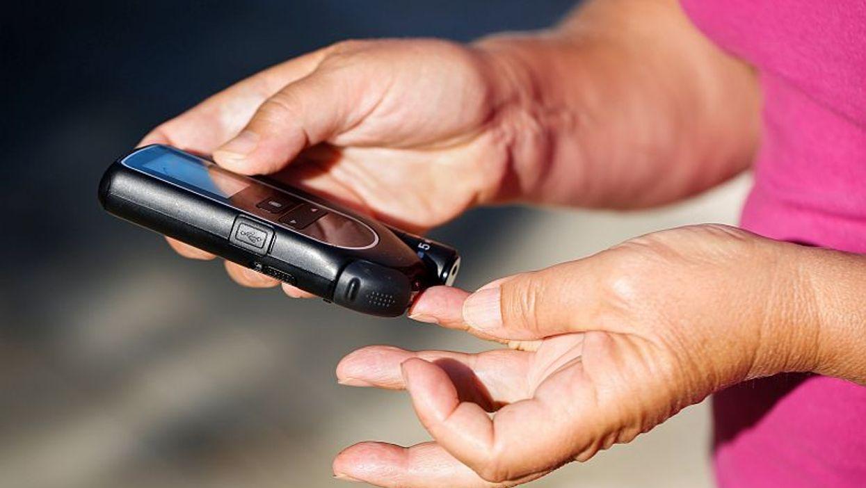 diabetes finger blood sample